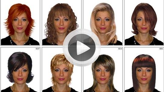 Причесок на онлайн лицо шаблон