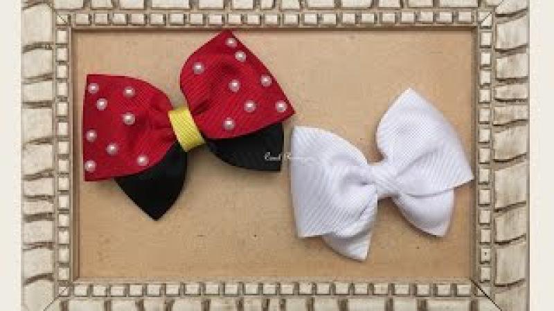 Laço da Minnie - Laço Duplo - Laço Borboleta - Laço Embutido - DIY Minnie Bow