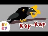 КУКУТИКИ - КАР КАР - Развивающая обучающая песенка мультик как говорят животные  ...