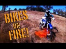 Dirt Bikes Catching on Fire. Anyone got a Fire Extinguisher?!
