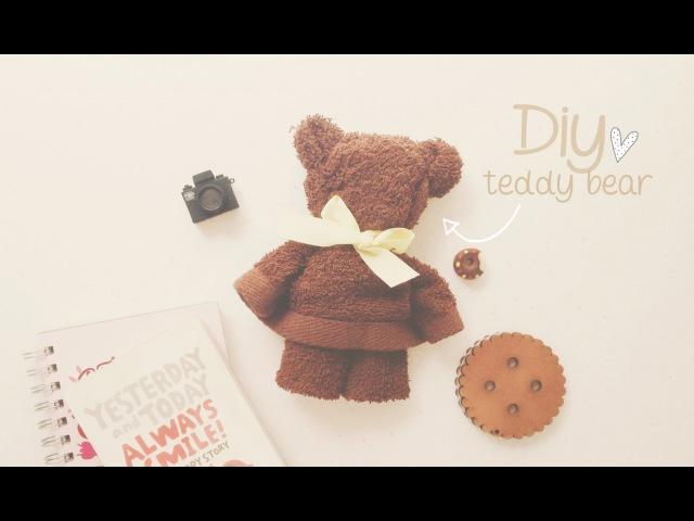DIY: OSITO CON TOALLA (TEDDY BEAR) ♥