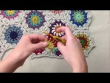 Indie Lovely Half Starflower Hexagon Crochet Pattern And Join As You Go Tutorial