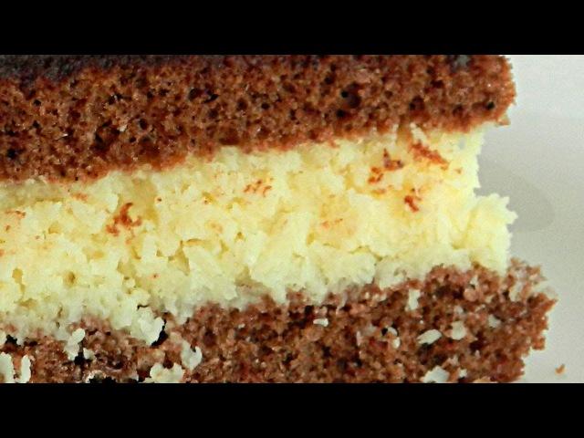 Шоколадно-Кокосовый Торт «Баунти» в Мультиварке кулинарный видео рецепт