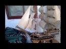 Модель парусного корабля из дерева своими руками. Продолжение
