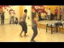Кубинская сальса с румбой и оришас от Осбаниса и Аннеты в школе танцев Boombox