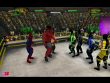 Человек-Паук, Росомаха и Красный Халк против Саб-Зиро, Эрмака и Нуб-Сайбота (со Скорпионом и Рептилией)