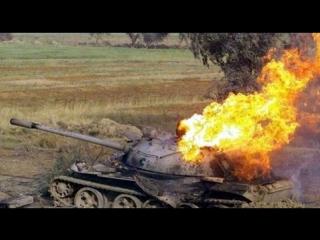 Burning tank! Horror! Реальное сожжение танка! Жесть! 2015