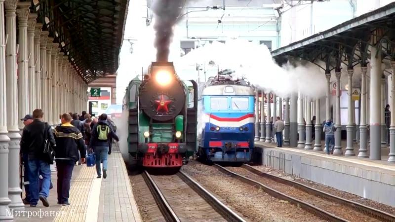 Паровоз П36-0120 (ТЧЭ-18) с п.№ 921 Москва - Бородино. (РЖД)
