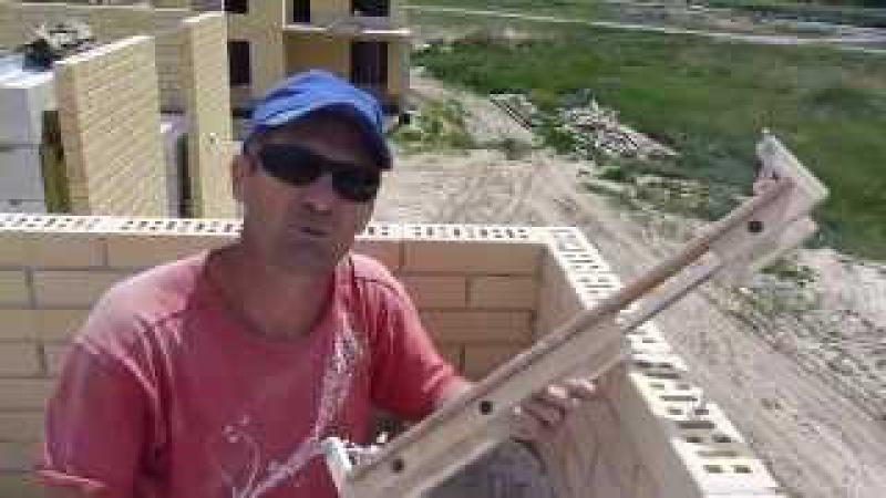 кладка угла из кирпича баер в полный шов на двойную рейку прут.Nivok111