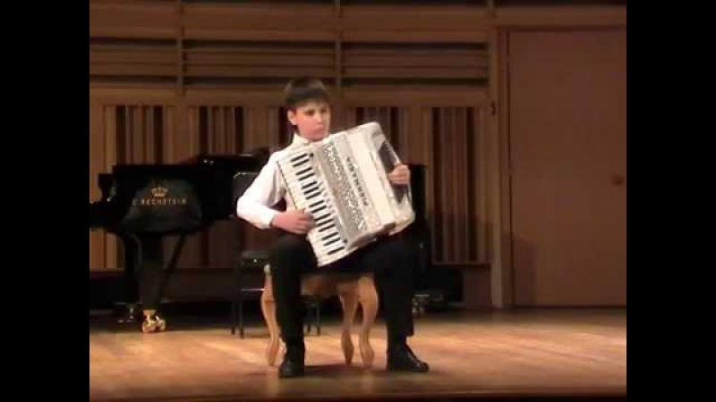 Этюд на владение мехом на тему Ехал казак за Дунай Ян РУБЦОВ (аккордеон)
