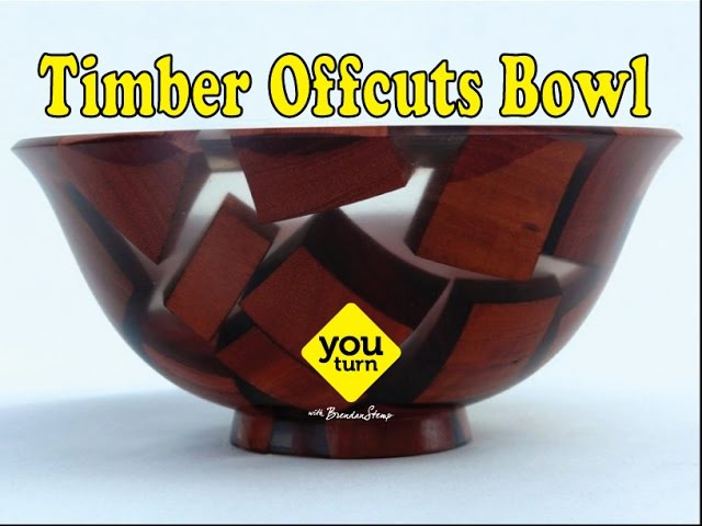 Resin and Timber Offcuts Bowl