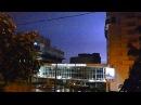 Гроза в городе ночью. Гром и молния. Звук грозы. Футажи для видеомонтажа