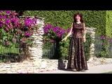 Ameynra fashion black gold lace maxi skirt. Designer Sofia Metal Queen