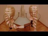 Коса Ножницы с лентой. Коса Цепь. Видео-урок. Причёска на каждый день.