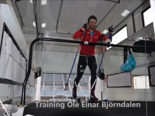 Тренировки Уле Айнара Бьорндалене в Антхольце, в его супер-трейлере