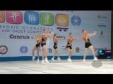 Российская группа. Чемпионат Мира по спортивной аэробике - 2014 года.