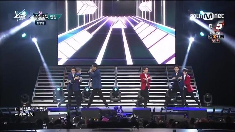 150815 TEEN TOP (틴탑) - Ah Ah (아침부터 아침까지) @ 엠카운트다운 M! Countdown 2015 KCON in NY
