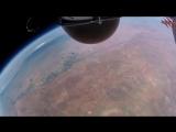 Прыжок из космоса с 40км на землю с камерой GoPro