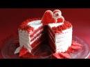 Торт ко дню Святого Валентина со сливочно-сырным кремом.