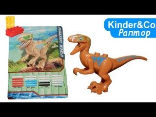 Лего Раптор. Динозавр велоцераптор аналог конструктора лего - видео обзор