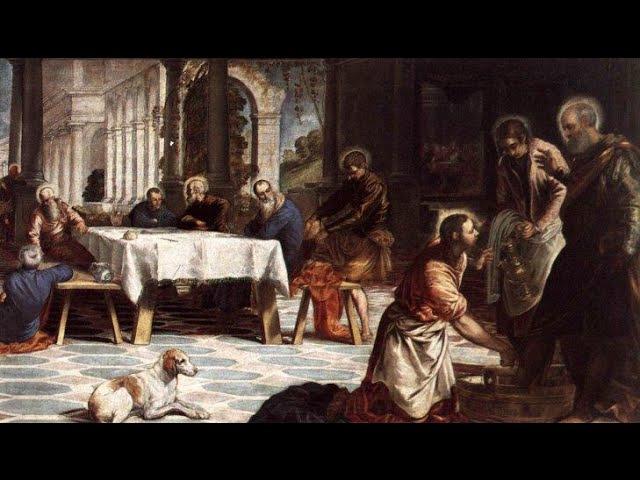 ЯКОПО ТИНТОРЕТТО Омовение ног Библейский сюжет