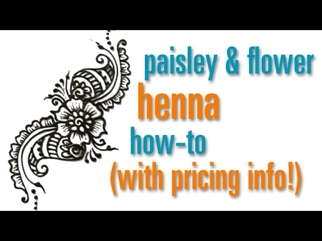How to Draw a Flower Paisley Henna / Mehndi design : festival pricing