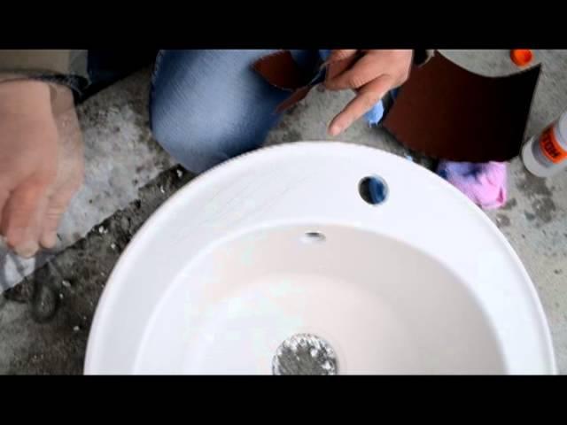Florentina кварцевая мойка, тест на прочность (ЕКРОМ)