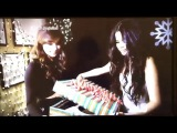 Hailee and Selena Gomez exchanging gifts