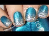 Elegant Sparkly WinterChanukah Nail Art DIY KELLI MARISSA