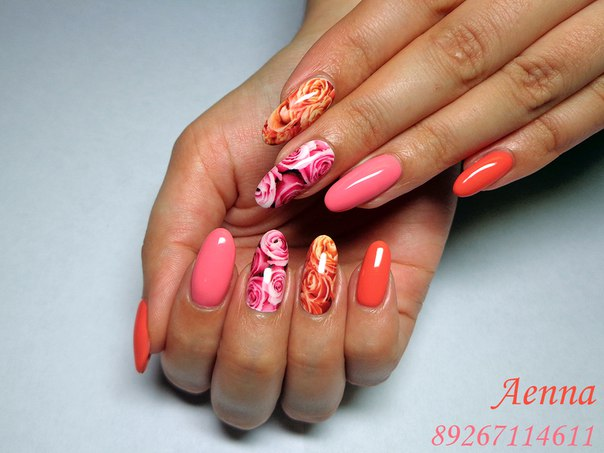 Дизайны ногтей с термопленками
