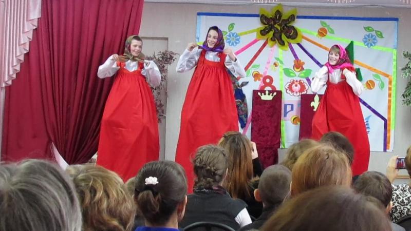 Танец матрёшек Рембуевская школа 9 класс 2016 год