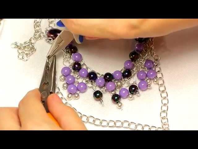 Ожерелье Сирень. Handmade Мастер-класс [2 из 5] /DIY: Necklace Lilac