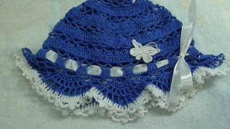 🎈Панама крючком детская, вязание для начинающих,baby hat for summer