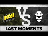 Last moments from Na`Vi vs Ad Finem (game 3) @ ESL One Manila