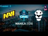 NaVi vs Ad Finem #1 (bo3) (Ru) | ESL One Manila 2016 (12.02.2016)