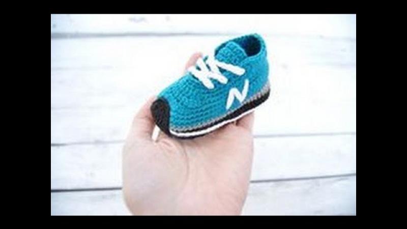 Zapatillas de bebé de ganchillo. Crochet baby sneakers, booties. Gali Craft