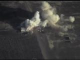 Разрушение командного пункта боевиков ИГИЛ в р-не САЛЬМА (ЛАТАКИЯ). Сирия.