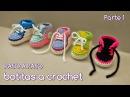 Cómo tejer zapatitos botitas escarpines bebé crochet, ganchillo - VARIOS TALLES (1/2)