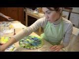 Новогодний мастер-класс по интуитивной росписи часов с Марианной Очира