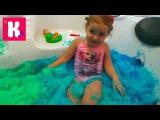 Синяя и зелёная ванна с желе amp Маша и Медведь с уточкой распаковка игрушки и кара ...