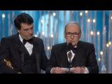 Ennio Morricone winning Best Original Score for