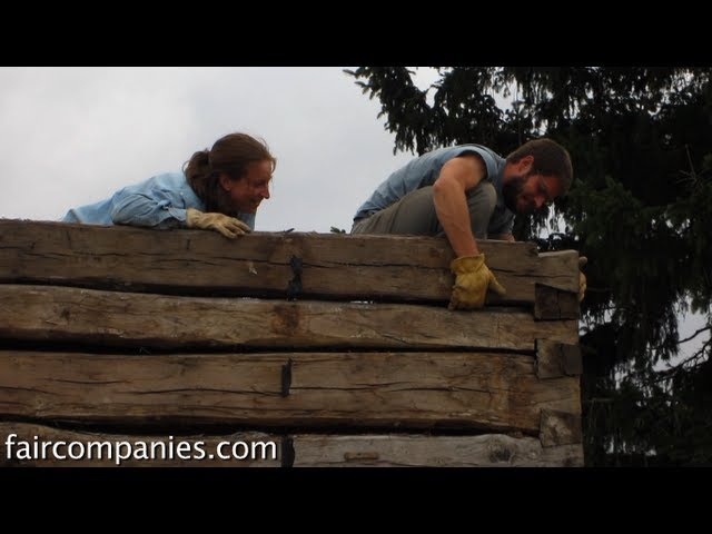 Log cabin simplicity recrafting pioneer tiny homes in corn Iowa
