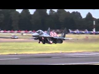 Вертикальный взлёт Миг 29 на авиасалоне, летчики НАТО в ШОКЕ