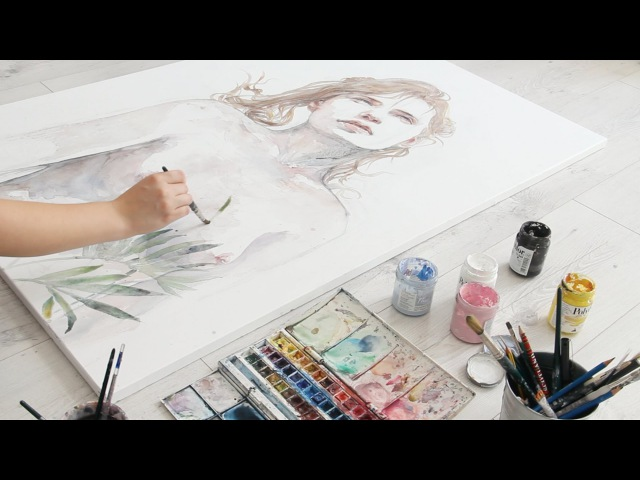 Incredible Watercolor Speed Painting w Agnes-Cecile