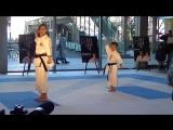 Bassai Dai Kata Shito ryu vs Shotokan version by Rika Usami and Mahiro Takano