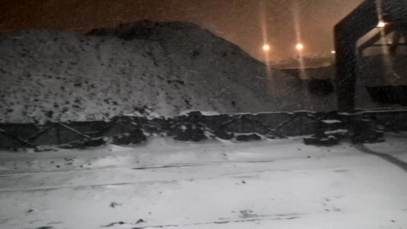 Первый снег сильная метель очень холодно ч 1