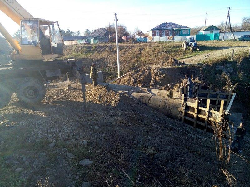 В станице Сторожевой ведется реконструкция моста соединяющего северную и южную часть района Бежгон