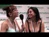 Harriet Sugarcookie interviews Jacquey Azul from MyFreeCams at the AVN Expo 2015