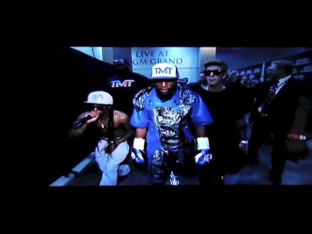 Floyd Mayweather's Walk Out with Lil Wayne Justin Bieber at Mayweather vs Alvarez