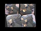пинетки для новорожденных, вязание спицами - booties for newborns, knitting